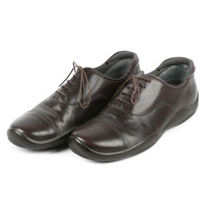 Men's Prada Dark Brown Leather Oxfords